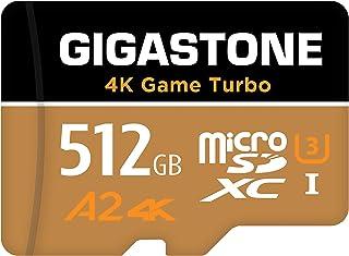 【5年データ回復保証】【Nintendo Switch対応】 Gigastone マイクロSDカード 512GB Micro SD Card, 4K Game Turbo, A2規格 100/60 MB/s, Full HD & 4K UHD撮...
