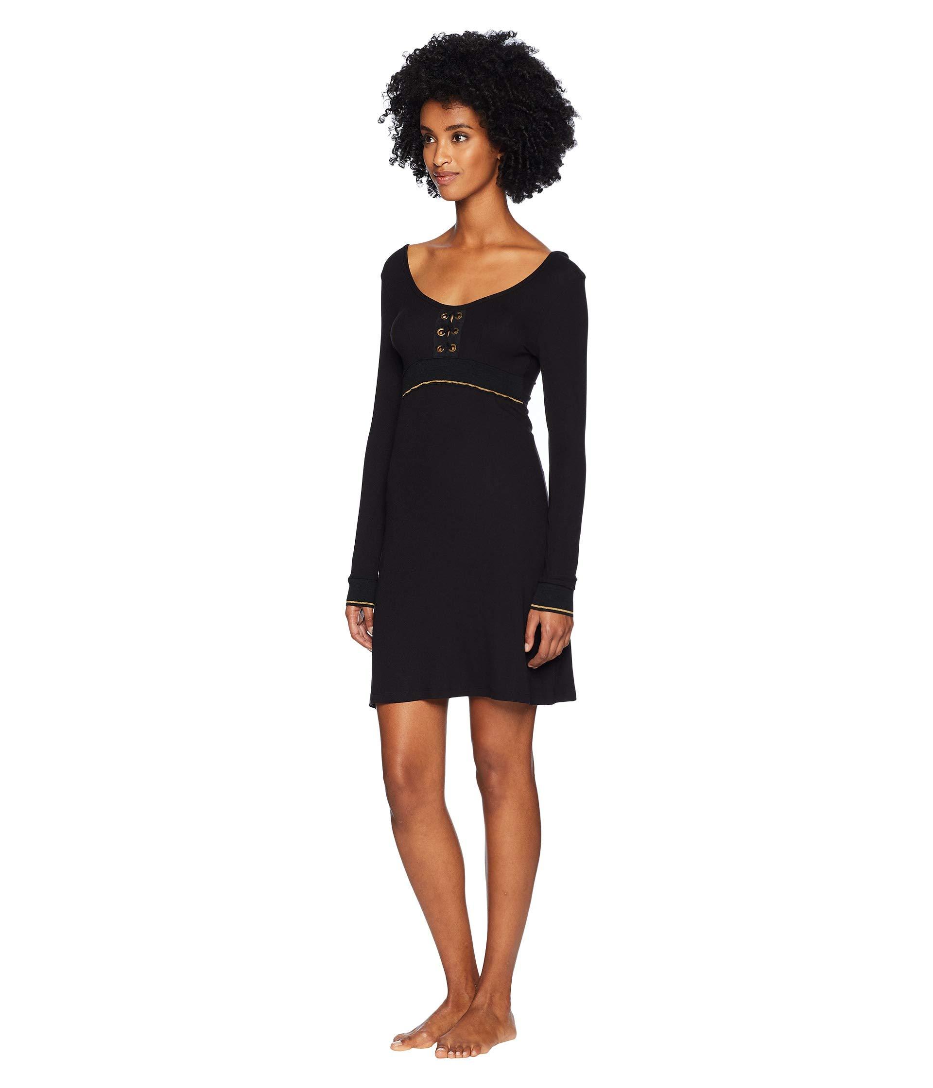 Lace Black Lounge Else Dress Sleeved Urban Long up Oqn8UT