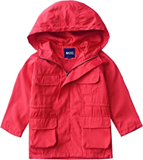 M2C Boys & Girls Outdoor Hooded Windproof Trench Jacket