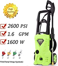 Homdox Electric High Pressure Washer 2600PSI 1.6GPM Power Pressure Washer Machine with Power Hose Gun Turbo Wand 4 Interchangeable Nozzles