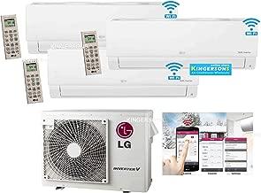 LG 2.5 TON 27000 BTU SEER 20 TRI Zone 9K + 9K + 9K Heat and Cool Mini Split AC Heat Pump System with Built in WiFi