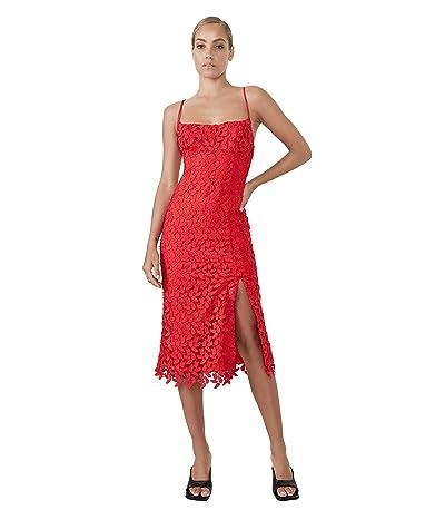 Bardot Ariel Leaf Lace Midi Dress