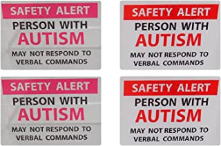 Max Petals Autism Safety Alert Window Cling and Decal 4-Pack