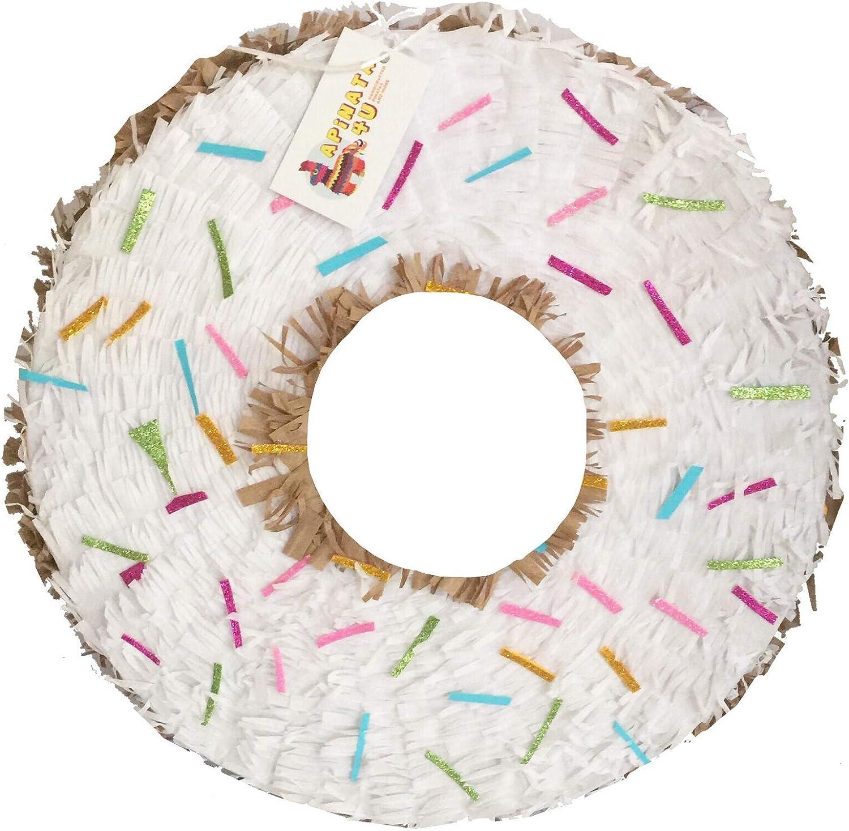 APINATA4U Product White Max 83% OFF Doughnut Shape Pinata Favor Party Sugar