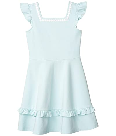 Janie and Jack Ponte Dress (Toddler/Little Kids/Big Kids) (Blue) Girl