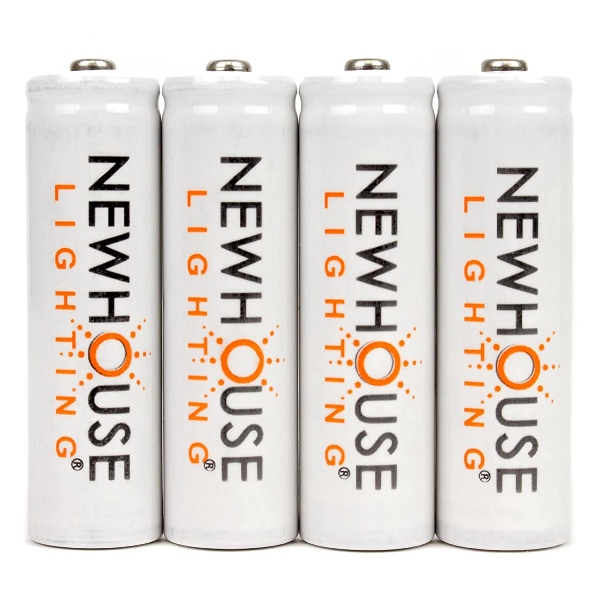 Newhouse Lighting Rechargeable 1500mah NiMH AA Batteries Optimized for Solar Lights, 4 Count
