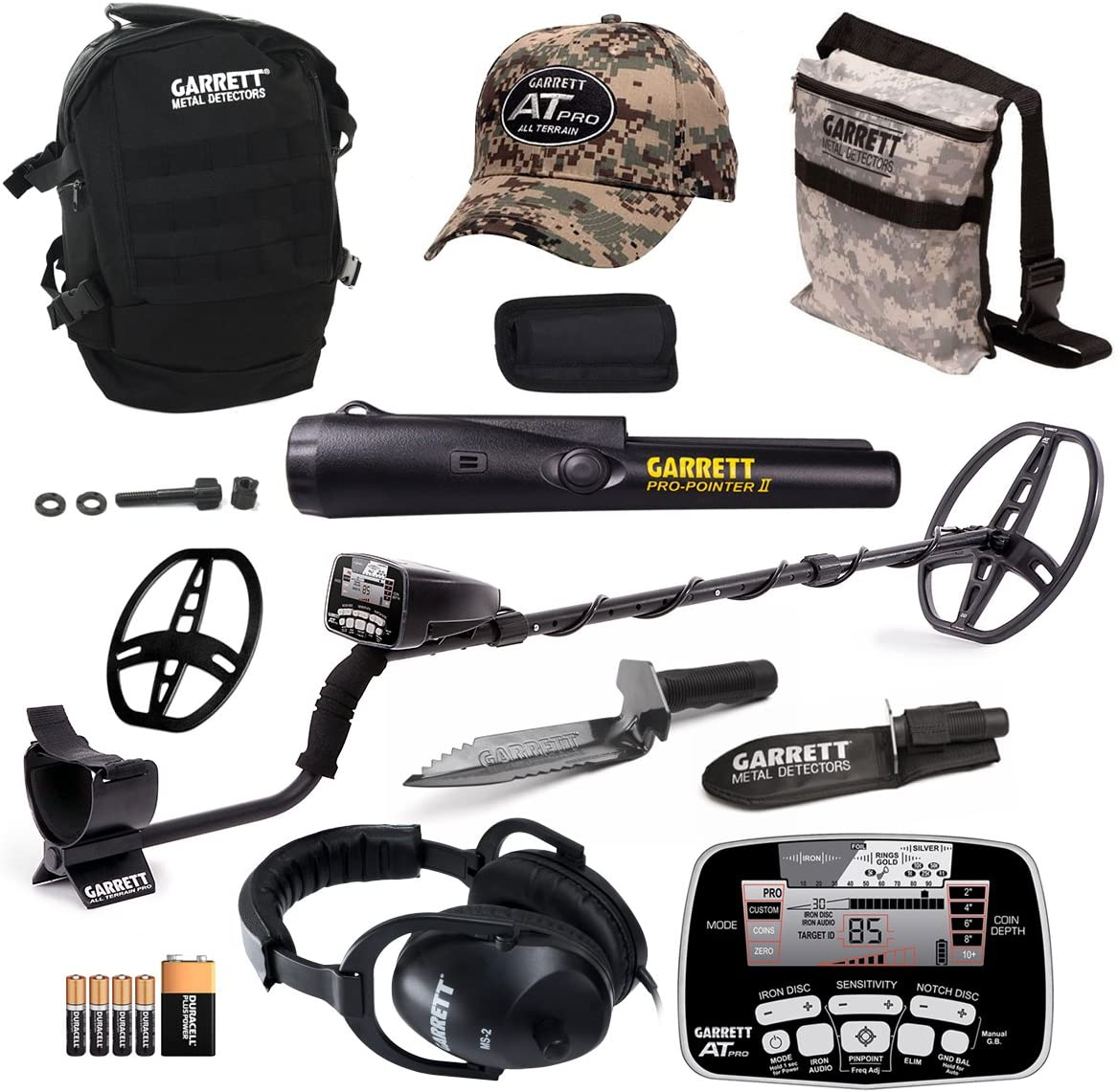 Garrett Bombing new work at Pro Metal Detector Bonus II and Pack ProPointer with Free shipping anywhere in the nation