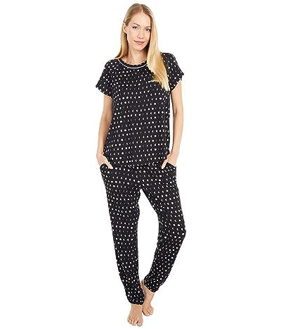 Kate Spade New York Brushed Jersey Long Pants Pajama Set (Mini Moons) Women