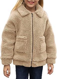 GOSOPIN Girls Winter Warm Thick Coat Full Zip Outdoor Sherpa Fleece Jacket