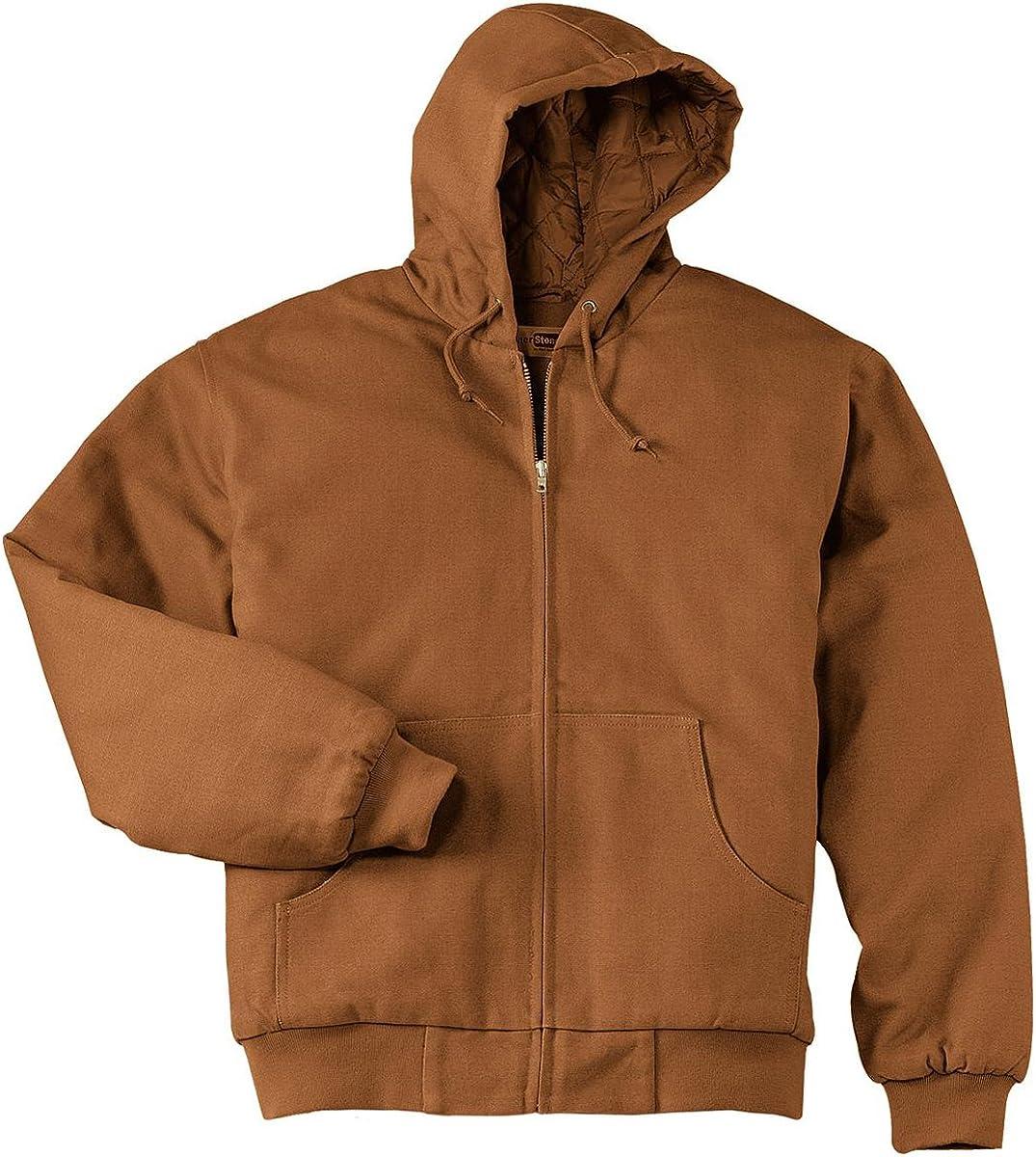 CornerStone Men's Big And Tall Adjustable Zipper Work Jacket_Duck Brown_2XLT