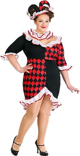 minorista de fitness Wohombres Wohombres Wohombres Haute Harlequin Fancy Dress Costume Plus Talla 3X  de moda