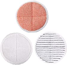 Jorllina Mop Pads Replacement for Bissell Spinwave 2039A 2124 Powered Hard Floor Mop - Included 1 Soft Pads+1 Scrubby Pad...