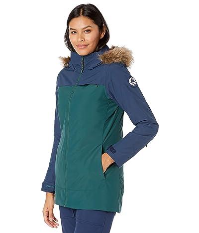 Burton Lelah Jacket (Dress Blue/Ponderosa Pine) Women