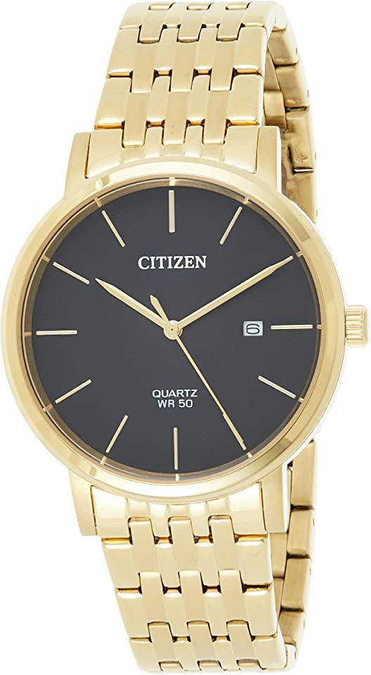 Citizen Quartz Black Dial Gold-Tone Men's Watch BI5072-51E