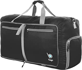 """Bago 60L Duffle bags for men & women - 23"""" Foldable Travel Duffel weekender bag"""