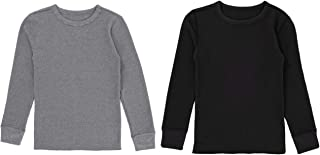 Sponsored Ad - Fruit of the Loom Boys' Premium 2-Pack Thermal Waffle Crew Top