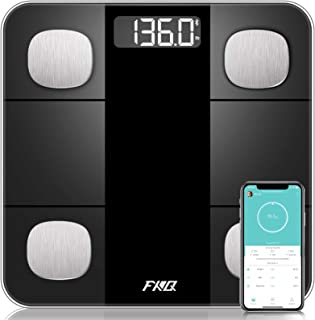 Bluetooth Body Fat Scale, High Precision Sensor Scales Digital Weight and Body Fat, Smart Bathroom Scales with Durable Tem...