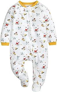 HUBA Baby Kleidung Jungen Mädchen Strampler Overall Jumpsuit, Kleinkind Bodysuits Outfits Einteiler, 0-12 Monate Neugeborenen Schlafstrampler Säugling