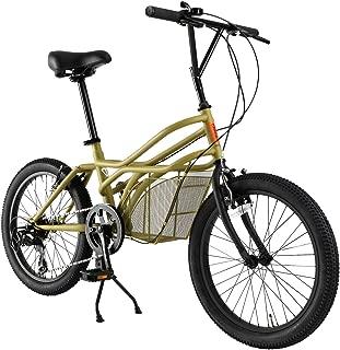 ドッペルギャンガー(DOPPELGANGER) 20インチ カーゴバイク [ROADYACHTシリーズ] シマノ7段変速 独自開発ミッドキャビン搭載フレーム オリジナルカーキ 330-C-BG