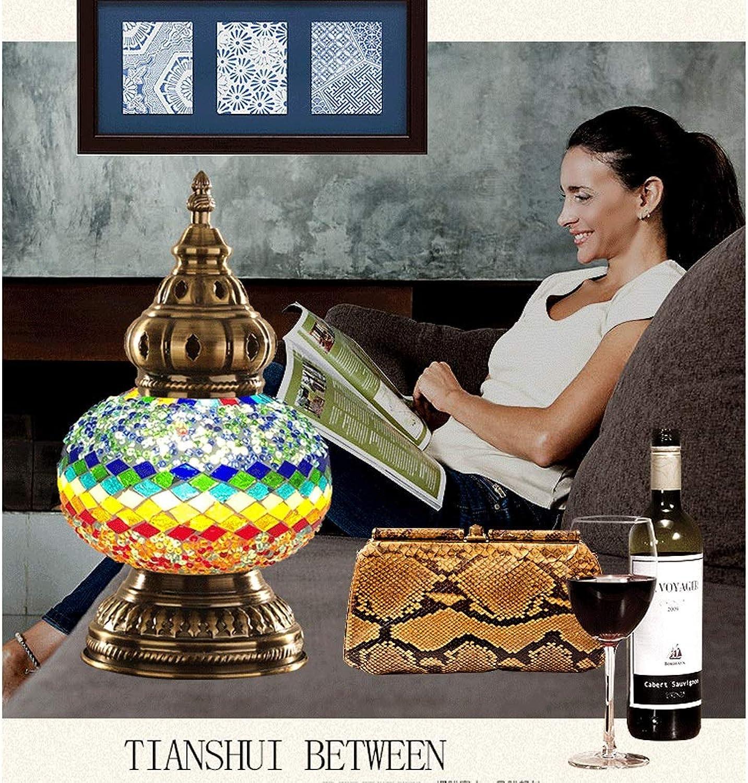 WZJ-TISCHLEUCHTE Europische Art-Ausgangsdekorations-Lampe für Studien-Schlafzimmer Nightstand, Buntglas-Nachtlicht (Farbe   B, Gre   29x16cm)