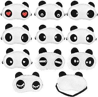 Panda Sleep Masks, Eye Mask Eyeshade Eyepatch Soft Sleep Masks Lovely Panda Travel Sleeping Blindfold Nap Cover, 10 Different Looks