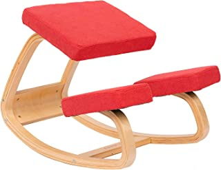 JZGORC Sillas ergonómicas de Rodillas Grande Home Office Silla de Escritorio-Colores múltiples - Tela Rojo