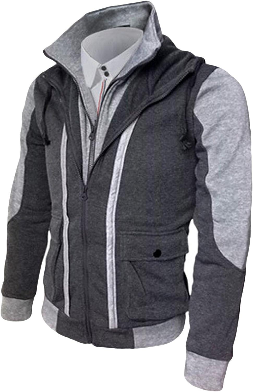 Jueshanzj Mens Full Zip Sweater Slim Fit Long Sleeve Fleeces Jackets