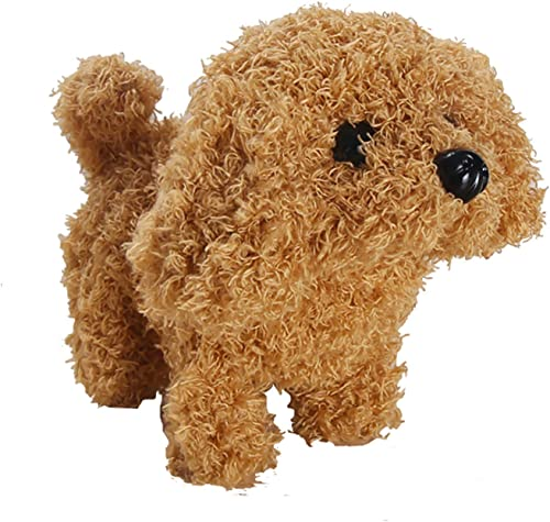 high quality Cute Little Puppy Stuffed Toy Doll Electric Dog Toys Interactive Pet Stuffed Animals Toy for Kids and Baby, Walking, lowest Barking Wagging Tail Plush Doggie Toy, Battery popular Powered outlet sale