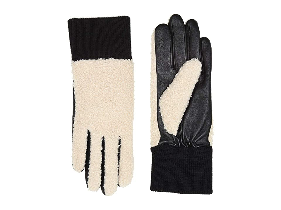 UGG Faux Sherpa Tech Gloves (Natural) Extreme Cold Weather Gloves