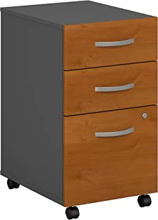 Bush Business Furniture Series C 3 Drawer Mobile File Cabinet in Natural Cherry