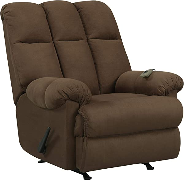 Dorel Living Padded Dual Massage Recliner Chocolate