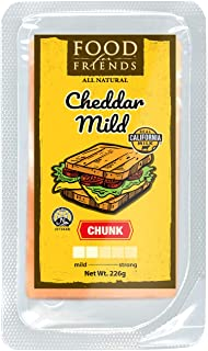 Food for Friends Cheddar Mild Chunk, 226g - Chilled