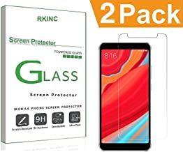 RKINC forRedmi S2Screen Protector, [2 Pack] Crystal Clear Tempered Glass Screen Protector [9H Hardness][2.5D Edge][0.33mm Thickness][Scratch Resist] forXiaomi Redmi S2
