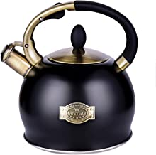 SUSTEAS Stove Top Whistling Tea Kettle-Surgical Stainless Steel Teakettle Teapot with..