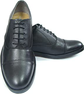 ASM Genuine NDM Leather Black Oxford Shoes with TPR (Thermo Plastic Rubber) Sole, Leather Insole, Fully Leather Lining and Memory Foam for Optimum Comfort for Men 5 to15