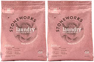 Grab Green Stoneworks Laundry Detergent Pods, Rose Petal, 2 Count