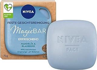 NIVEA MagicBar Vaste gezichtsreiniging, verfrissend (75 g), gezichtsreiniger voor een mooi, zacht huidgevoel, gecertificee...