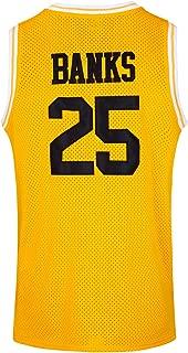 JOLISPORT The Fresh Prince of Bel Air #25 Carlton Banks Academy Basketball Jersey S-XXXL