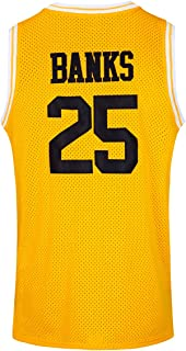 JOLISPORT The Fresh Prince of Bel Air #25 Carlton Banks Academy Basketball Jersey S-XXXL