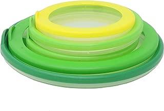 Farberware 5205246 Bowl Hugger Reusable Multipurpose Food Saver Lids Set of 5 Green/Yellow