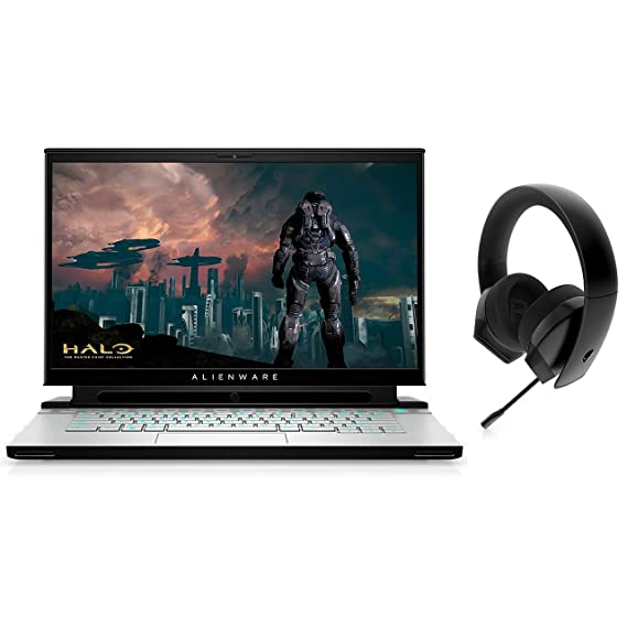 """Dell Alienware m15(R3) 15.6""""FHD Gaming Laptop(10thGenCore i7-10750H/16GB/512GB SSD/Windows10Home & MS Office/6GB NVIDIA GTX 1660 Ti Graphics),Lunar Light + Alienware Stereo Gaming Headset 310H,AW310H"""