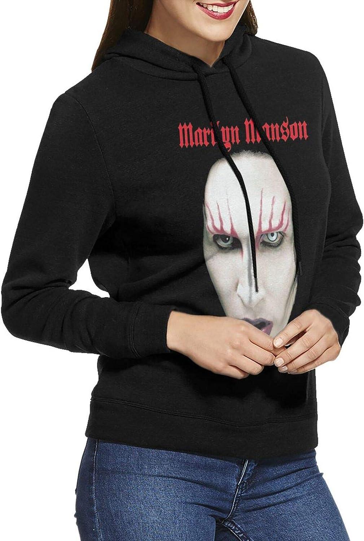Marilyn Manson Fashionable Red Lips Max 76% OFF Hoodie Sweatshirts Cotton Casual Womens