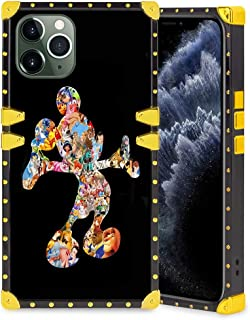 DISNEY COLLECTION Square Case Compatible iPhone 11 Pro 5.8 Inch Colorful Mickey Elegant Soft TPU Full Body Shockproof Protective Case Metal Decoration Corner Back Cover iPhone 11 Pro Case