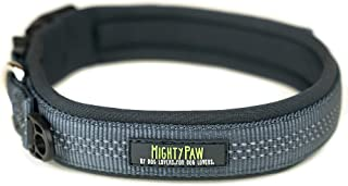 Mighty Paw Neoprene Padded Dog Collar, Reflective Running Dog Collar, Premium Quality Sports Collar, Extra Comfort for Act...