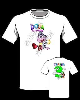 Dora The Explorer Boots Personalized Birthday Shirt