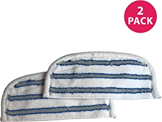 Crucial Vacuum Replacement Pads Compatible with Bissell 46B4 Series, Striped Microfiber Pad Part Fits Steam & Sweep Hard Floor Cleaners, Compatible With Parts # 75F5, 2032200 & 203-2200 (2 Pack)