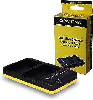 PATONA Cargador Doble para LP-E8 Bateria Compatible con Canon EOS 550D 600D 650D 700D Rebel T2i T3i T4i T5i