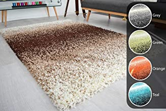 Good Price 3 Tone Brown Beige & Ivory Mix Super Soft High Deep Pile Luxury Shaggy Area Rug||Living Room,Guest Room,Hall Rug Carpet||6 size-3x5 feet