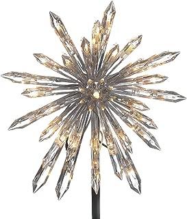 Kurt Adler UL 30-Light Crystal Snowflake Treetop