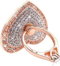 Cell Phone Ring Holder,360° Rotation Diamond Metal Finger Ring Grip for iPhone iPod iPad Samsung Galaxy and Other Smartphones (Rosegold)